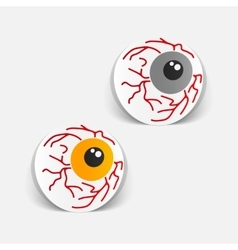Realistic design element eye vector