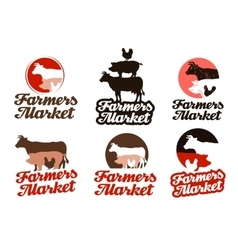 Farm logo livestock farming or animal vector