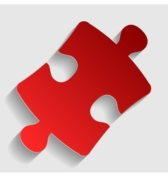 Puzzle piece sign vector