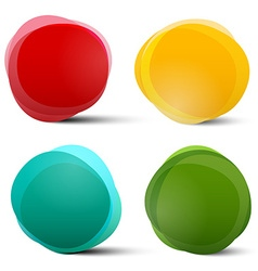 Abstract Circle Red Orange Blue and Green Colorful vector image vector image