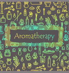 Aromatherapy - poster vector