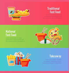 Banner template fast food for food festival vector