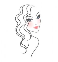 curly hair vector image vector image