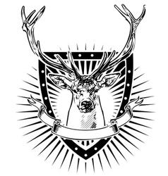 deer shield vector image