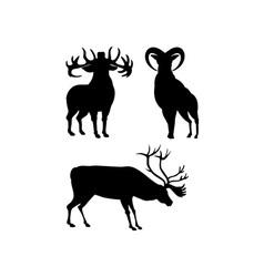 Elk silhouettes vector