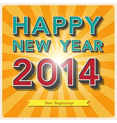 Happy new year retro poster vector image vector image