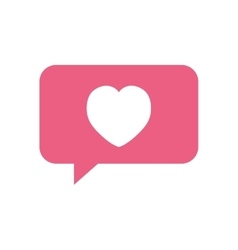 heart love bubble speech symbol vector image vector image