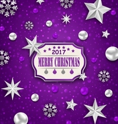 Holiday silver starry background with best wishes vector