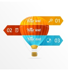 Hotair ballon infographics options banner vector