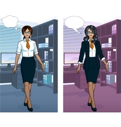 Indonesian Businesswoman in office interior vector image vector image