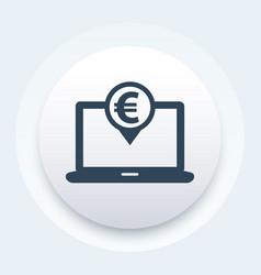 internet banking icon vector image vector image
