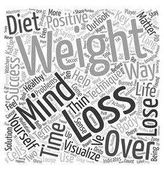 Mind over matter key strategies for weight loss vector