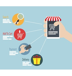 Online Shopping E-commerce Concept Infographic vector image vector image