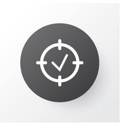 Project goals icon symbol premium quality vector