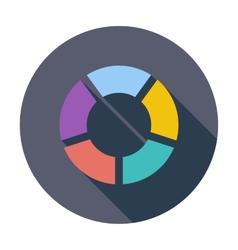 Round graph circular vector image vector image