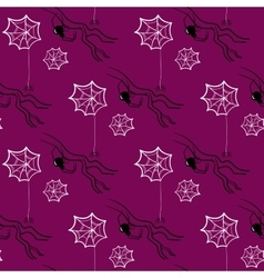 Seamless Pattern Halloween Spiders vector image vector image
