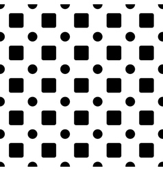 Square and circle seamless pattern vector image