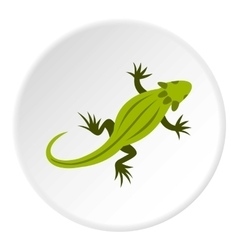 Striped iguana icon flat style vector