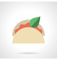 Taco menu flat color design icon vector image