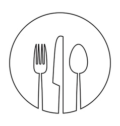 white round plate vector image vector image