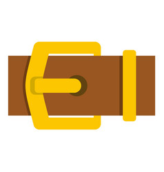 Yellow metal belt buckle icon isolated vector