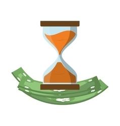 Bill green hourglass money financial item design vector