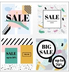 Artistic trendy memphis sale banners vector
