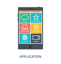 Application concept design vector