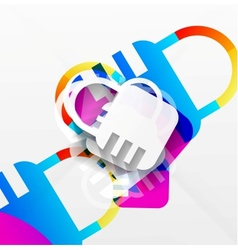 lock modern colorful design vector image