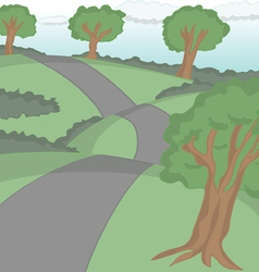 Road cartoon vector