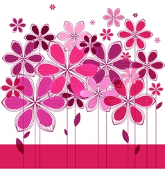 Greeting card floral composition vector
