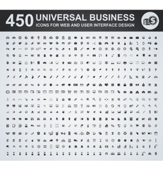 450 business icon set vector