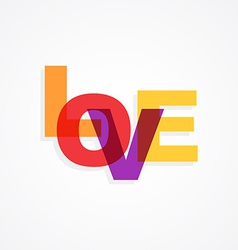 Colorful text of love isolated in white background vector