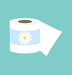 Toilet paper icon vector