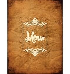 decorative grunge menu background 1405 vector image