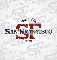 San francisco varsity theme vector