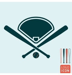 Baseball icon isolated vector