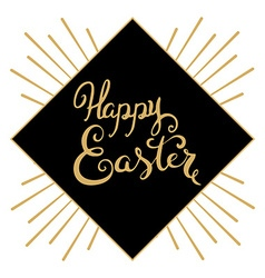 Happy easter hand drawn lettering easter greeting vector