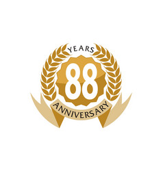 88 years ribbon anniversary vector image