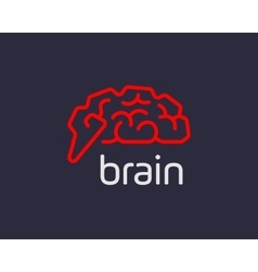Abstract brain logo generate idea design template vector image