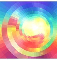 Abstract colorful circular technology mosaic vector image