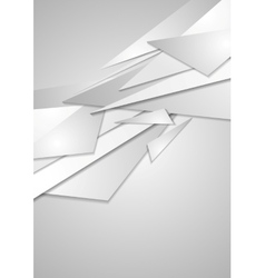 Abstract grey geometric corporate background vector image