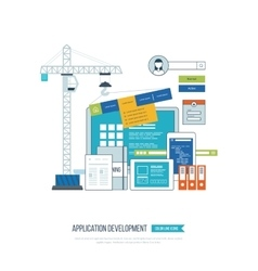 Application development concept for e-business vector image vector image