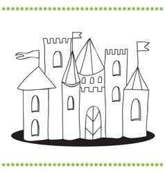 Art of a Castle vector image vector image