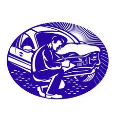 auto insurance assessor vector image vector image