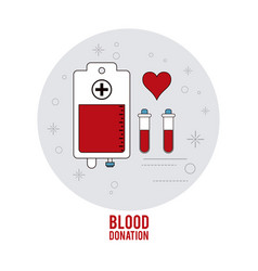 Bag tube cross blood donation icon graphic vector
