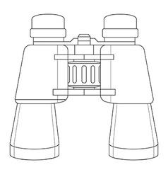 binoculars icon Contour vector image