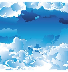 Blue Sky with Clouds2 vector image