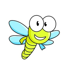 Cartoon dragonfly character vector
