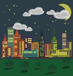 City 1 Night vector image